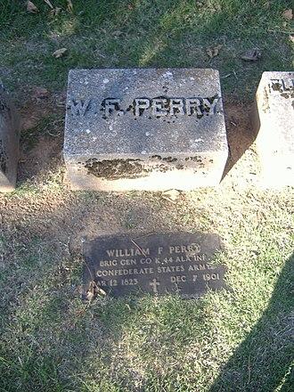 William F. Perry Monument - Image: William F. Perry Monument plaque