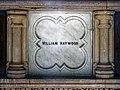 William Haywood tomb interior at City of London Cemetery William Haywood plaque 1.jpg