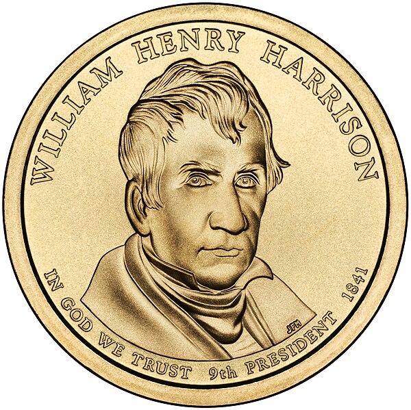 File:William Henry Harrison Presidential $1 Coin obverse.jpg