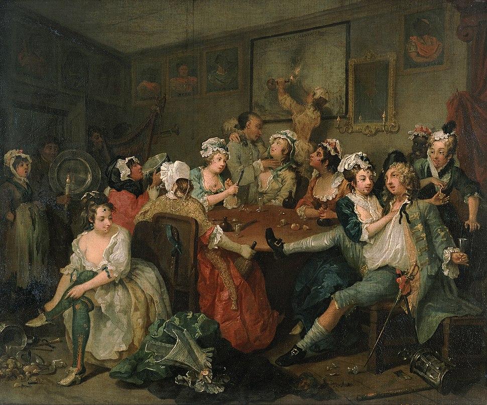 William Hogarth - A Rake's Progress - Tavern Scene