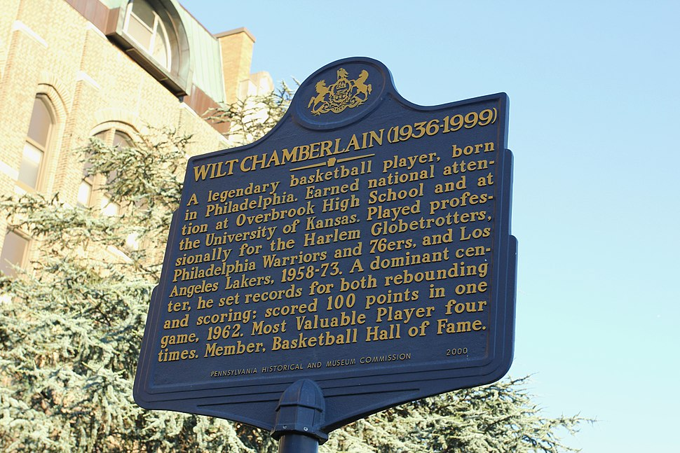 Wilt Chamberlain Historical Marker