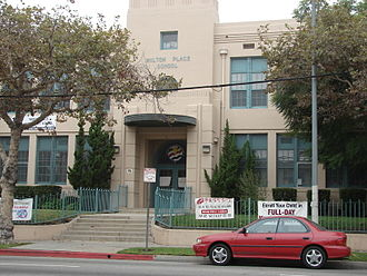 Wilshire Park, Los Angeles - Wilton Place School, Wilton Place between Leeward and 8th Street