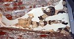 Wismar St. Marien , Fragment einer alten Malerei.JPG