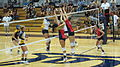 Women's volleyball, Fresno State at Cal 2010-09-11 6.JPG
