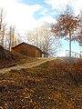 Wooden house in lake Logga.jpg