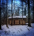 Woodland Classroom in Rosewell, Side View in Winter, Scotland.jpg
