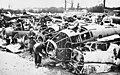 Wrecked German aircraft in Britain 1940.jpg