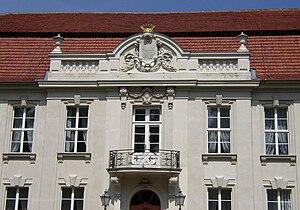 Hans Joachim von Zieten - Detail of the crest at the family house at Wustrau.