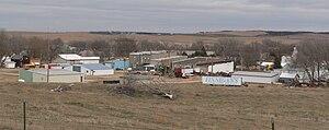 Wynot, Nebraska - Wynot, seen from the southwest