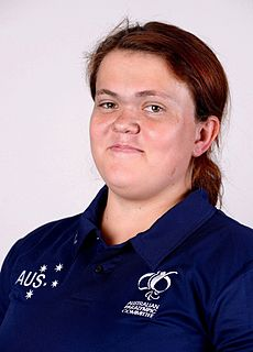 Claire Keefer Paralympic athlete of Australia