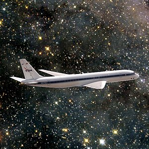 Artist's impression of one of en:Xenu's space planes.