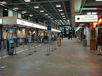 Kelowna International Airport - Interior of the airport terminal's check-in area.