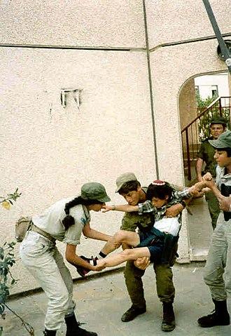 Yamit - Israeli soldiers evacuating Yamit by force