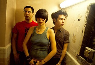 Yeah Yeah Yeahs - Yeah Yeah Yeahs in 2002. From left to right: Brian Chase, Karen O and Nick Zinner.