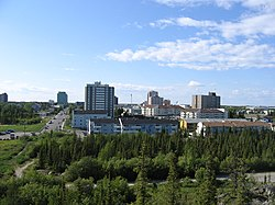 Skyline o dountoun Yellowknife