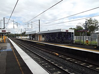 Yeronga railway station - Southbound view from Platform 1 in July 2012