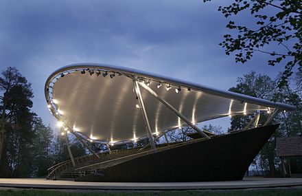 The rotating auditorium of the open air Pyynikki Summer Theatre in Tampere, Finland