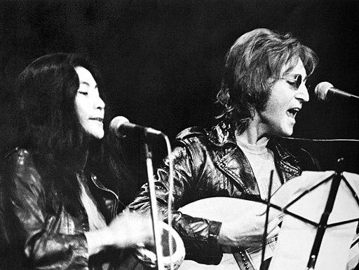 Yoko Ono and John Lennon at John Sinclair Freedom Rally