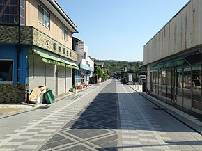 Yokomachi-dori Street near Sando of Usa Shrine.JPG