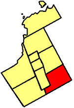 Map showing Markham's location in York Region