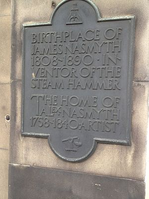 James Nasmyth - 47 York Place, Edinburgh, Plaque commemorating James Nasmyth's birth