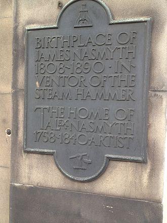 James Nasmyth - 47 York Place, Edinburgh, Plaque commemorating James Nasmyth's birth