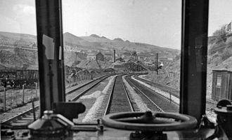 Ystrad Rhondda railway station - View from a DMU going up the Rhondda Valley in 1962