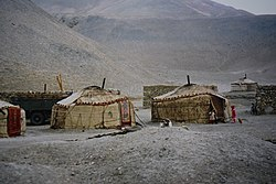 Yurt of the Kirghiz in Kizilsu