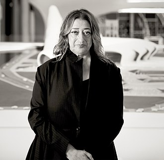 Zaha Hadid - Hadid in Heydar Aliyev Cultural center in Baku nov 2013