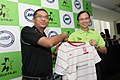 Zainudin Nordin, President of the Football Association of Singapore; and Tan Tong Hai, CEO and Executive Director of StarHub, marking StarHub's appointment as official broadcaster and principal sponsor of the LionsXII - 2012.jpg