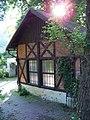 Zbraslav, Závist 1158, U Chladů, hrázděná stěna.jpg