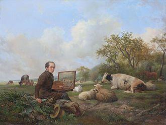 Hendrik van de Sande Bakhuyzen - Image: Zelfportret Hendrikus van de Sande Bakhuyzen