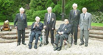 Kenneth Mayhew - Mayhew (second from the right) with fellow knights of the Military William Order in 2012