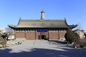 Dafo Temple, Zhangye - External view of the temple