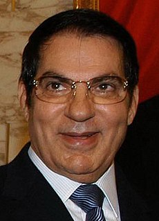 Zine El Abidine Ben Ali Tunisian politician