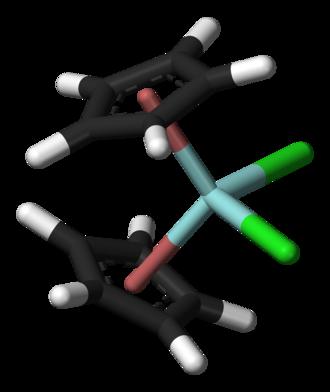 Cyclopentadienyl complex - Zirconocene dichloride, a cyclopentadienyl complex