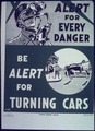 """Be alert for turning cars"" - NARA - 513925.tif"