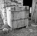"""""""Kason"""" za žveplanje sadja (češp!)- zaprt Spodaj odprtina za žveplanje. Medana 1953.jpg"""