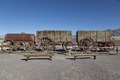 """Twenty mule team"" borax wagons at the Harmony Borax Works in California's Death Valley LCCN2013631223.tif"