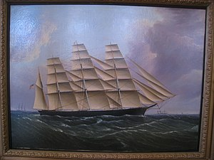 Great Republic - Painting of Great Republic in the Old State House, Boston