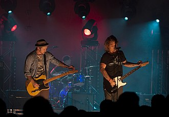 The Almost - The Almost performing in Sydney, Australia in 2011. From left to right, Dusty Redmon, Joe Musten, and Aaron Gillespie.