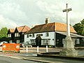 'The Cock' inn and war memorial, Sheering, Essex - geograph.org.uk - 247059.jpg