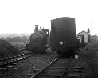 Welshpool and Llanfair Light Railway No.1 The Earl and No.2 Countess - Countess at Castle Caereinion a few days after re-opening
