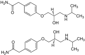 (±)-Atenolol Enantiomers Structural Formulae.png