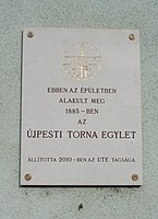 Újpesti Torna Egylet tábla (2010), Szent István tér, 2018 Újpest.jpg