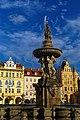 České Budějovice - Náměstí Přemysla Otakara II - Samson Fountain 1727.jpg
