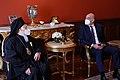 Σύναντηση ΥΠΕΞ Ν. Δένδια με Οικουμενικό Πατριάρχη Βαρθολομαίο 2021 04.jpg