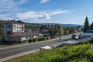 Bodaybo Town in Irkutsk Oblast, Russia