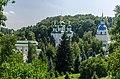Комплекс споруд Видубицького монастиря, вид з ботанічного саду.jpg