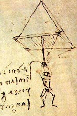Adrian Nicholas - Da Vinci's pyramidal design of ca. 1485, successfully tested in 2000 by Adrian Nicholas